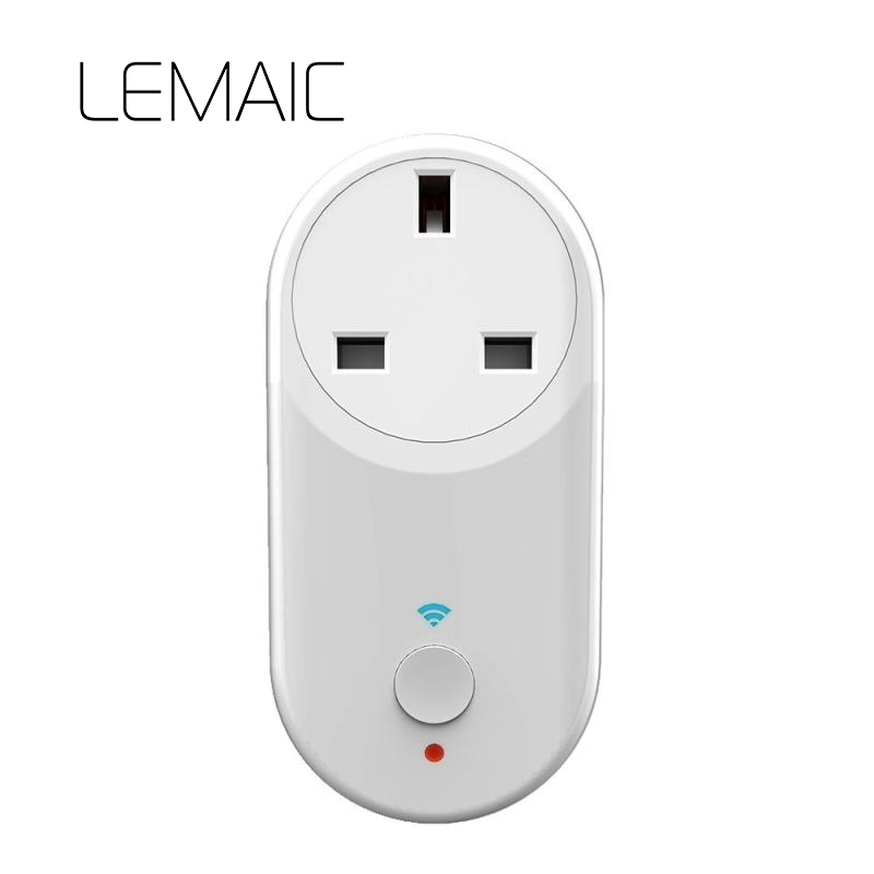 LEMAIC UK Plug Wifi Power Socket Switch Wireless APP Remote Socket Outlet Timing Switch for Smart Home Work with Alexa недорго, оригинальная цена