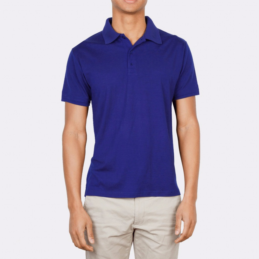 Men's 100% New Merino Wool Short Sleeve   POLO   Shirt 2 Color Out Door Lightweight Tee Lapel Turn-down V Collar Button