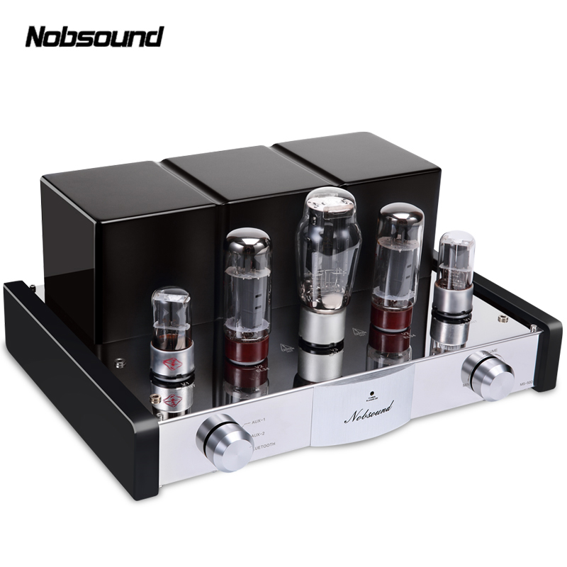 Nobsound MS-50D Bluetooth 4.0 APT-X Power Amplifier Class A Single-Ended EL34B Vacuum Tube Hi-Fi Stereo Lossless Audio Amplifier music hall pure handmade hi fi psvane 300b tube amplifier audio stereo dual channel single ended amp 8w 2 finished product