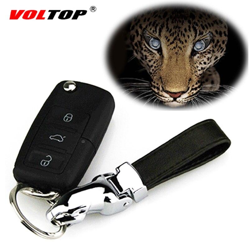 Головы леопарда автомобиль брелок кулон Орна Для мужчин t брелок металлический кожа хранения ключей кольцо серебрение Для мужчин джентльме...