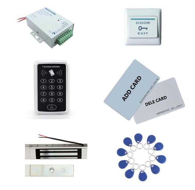 Access control kit,standalone access control+ power+180kg magnetic lock+exit button+2pcs manage card, 10 keyfob ID tags,sn:set-3 manage enterprise knowledge systematically