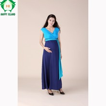 High Quality Summer S 3XL Tencel Ankle Length Maternity Dress Pregnancy Clothes Elegant Lady Prom Party
