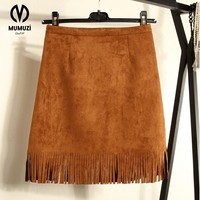 Girl Size S L 2018 New Arrivals Female Fashion Suede Tassel Skirt Autumn And Winter Women