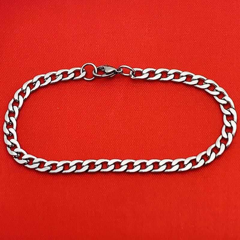 Popularny srebrny złoty krawężnik kubański Link Chain bransoletka ze stali nierdzewnej mężczyzna kobiet bransoletki AMYA biżuteria dla mężczyzn