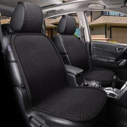 Siatka 3D przepuszcza powietrze drut lodowy pokrycie siedzenia samochodu dla samochodów oddychająca Auto lato fajne pojedyncze przednie poduszka na siedzenie Protect Pokrowce samochodowe    -