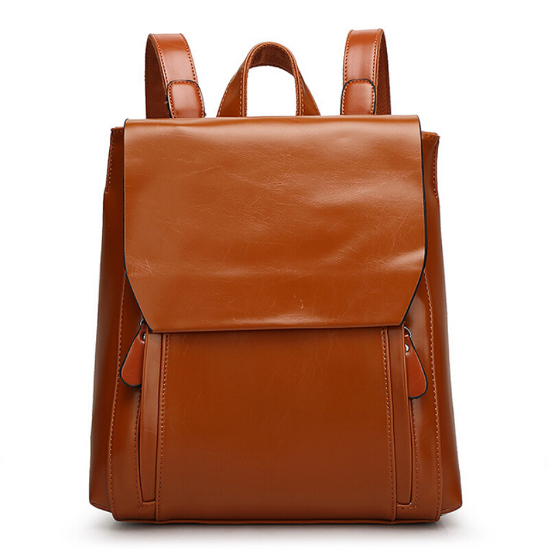 Women Genuine Leather Backpack Mochilas Femininas Fashion Korean School Bag For Girls Student Bookbag Travel Bag