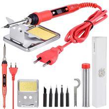 JCD Электрический паяльник 220 в 80 Вт ЖК-дисплей с регулируемой температурой, паяльная станция, Электрический паяльник, наконечники, наборы инструментов