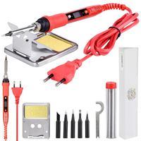 JCD Electric Soldering Iron 220V 80W LCD Adjustable Temperature Welding Solder station elektrik soldering iron Tips kits Tool