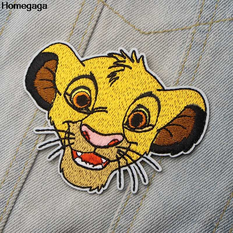 Homegaga Lion king cartoon Geborduurd Iron On Patches Badges Patchwork Naaien Applique Jas Rugzak Badges stickers D1995