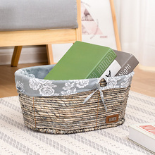 Rattan straw basket for table storage of toys snack bread boxes clothes organizing baskets large hand made