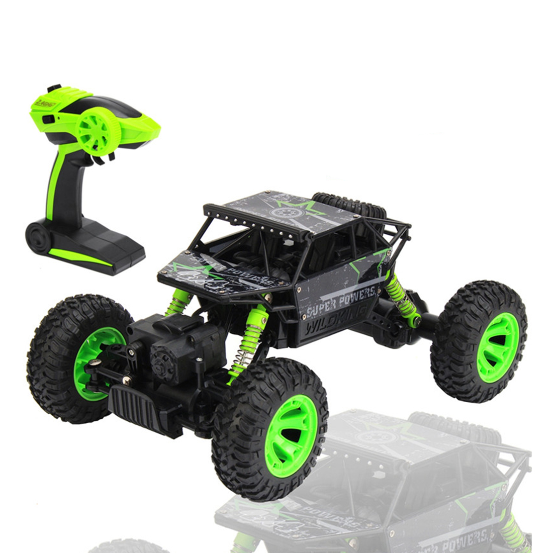 1:18 Scale 4WD 2.4GHz RC Car 4x4 Rock Crawlers climbing Car Off Road Race Big wheel Car Remote Control, EU Plug, toys for boys