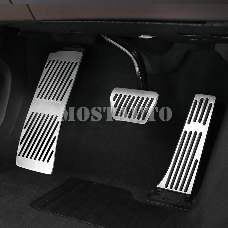 For BMW X3 G01 X4 G02 AT Brake Accelerator Pedal Footrest Pad Cover 2018-2019 3pcsFor BMW X3 G01 X4 G02 AT Brake Accelerator Pedal Footrest Pad Cover 2018-2019 3pcs