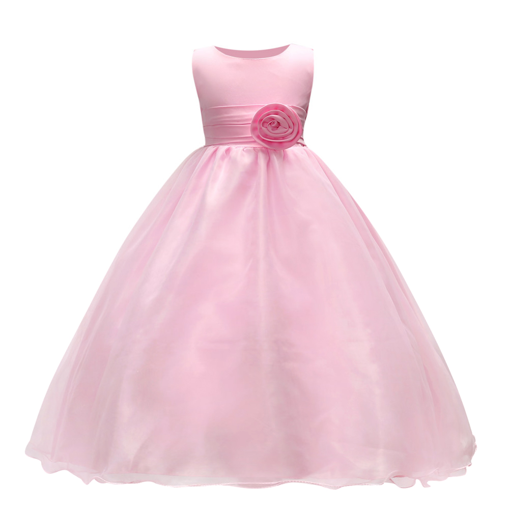 Top Quality New Year Girls Dresses Pageant Princess Flower dress for girl Kids clothing Formal Wedding Party Gown new kids princess dress for girls dresses for summer party dress wedding flower girl dress girls clothing gift 6 colors