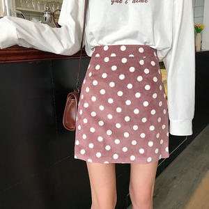 Mini Skirts Clothings Short Tutu Sundress Print Polka-Dot A-Link Casual Women Ladies