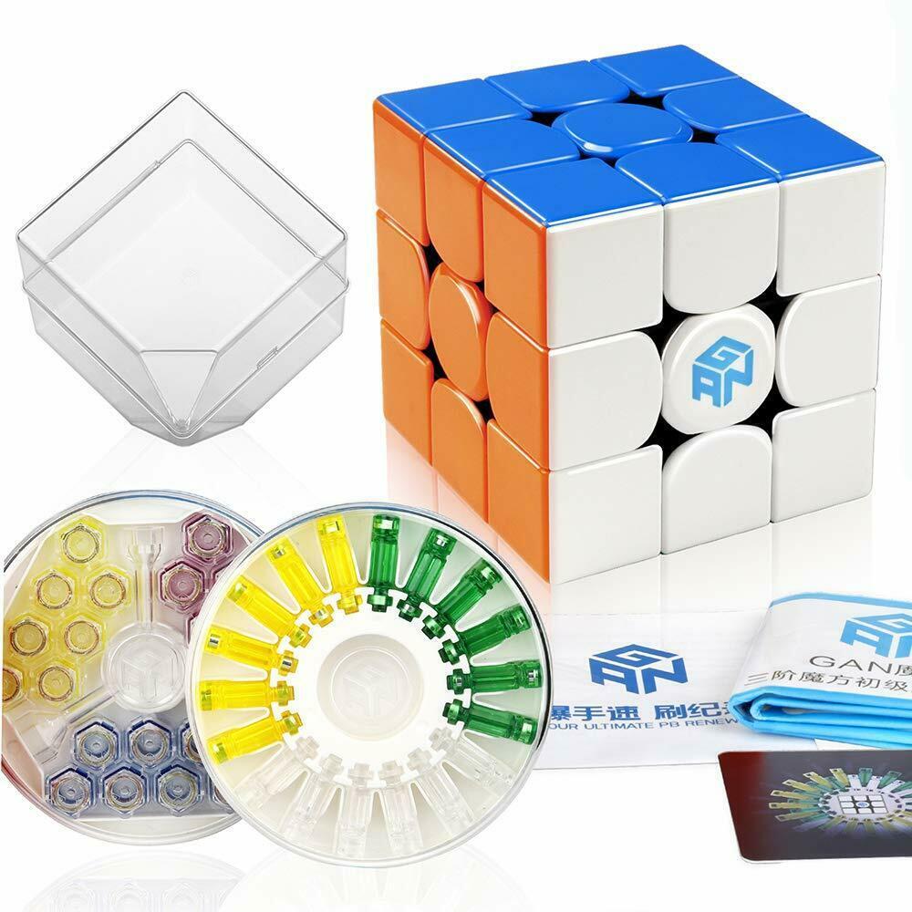 Original nouveau GAN356 X magnétique magique vitesse Cube professionnel 3x3 IPG V5 Magico Cubo échange aimants Puzzle noir sans bâton - 2