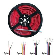 2pin 4pin 5pin 6pin провода аксессуары для освещения 22AWG удлинить кабель провода шнур разъем для одного цвета/RGB/RGBW светодиодные ленты