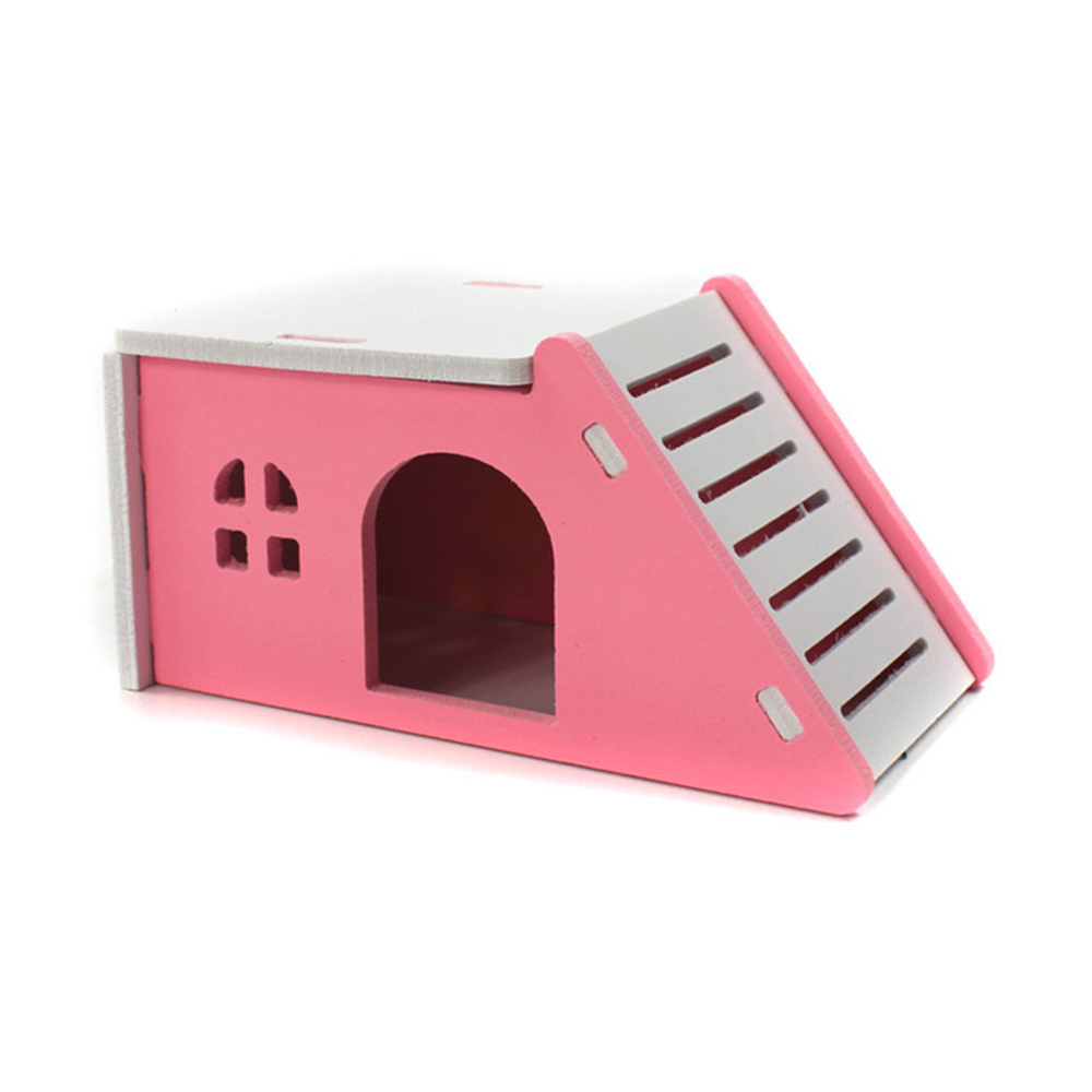 Lovely Ltalic Hamster Toys Wooden Large Wooden House Hedgehog Castle Toy Pet Wooden House