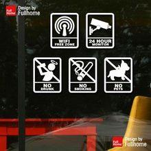 Restaurant English shop ban wifi monitor not drunk prohibit smoking ban pets(China (Mainland))