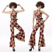 Free Shipping Hot Men 60s 70s Retro Hippie Costume Vintage 1960s 1970s Go Go Girl Women