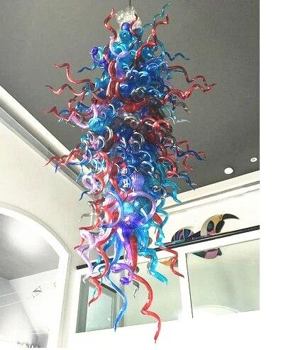 girban brand contemporary flush fittings hand blown glass chandelier hotel lobby art glass lighting