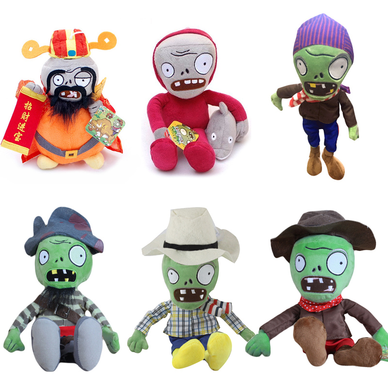 New Arrival Plants vs Zombies Plush Toys Soft Stuffed Toys 30cm DIY PVZ Zombies Plush Toy Doll for Kids Children Xmas Gifts 1pcs 48 style pc game plants vs zombies plush toys plants soft plush dolls stuffed doll figure toy for kids children gift m1 8