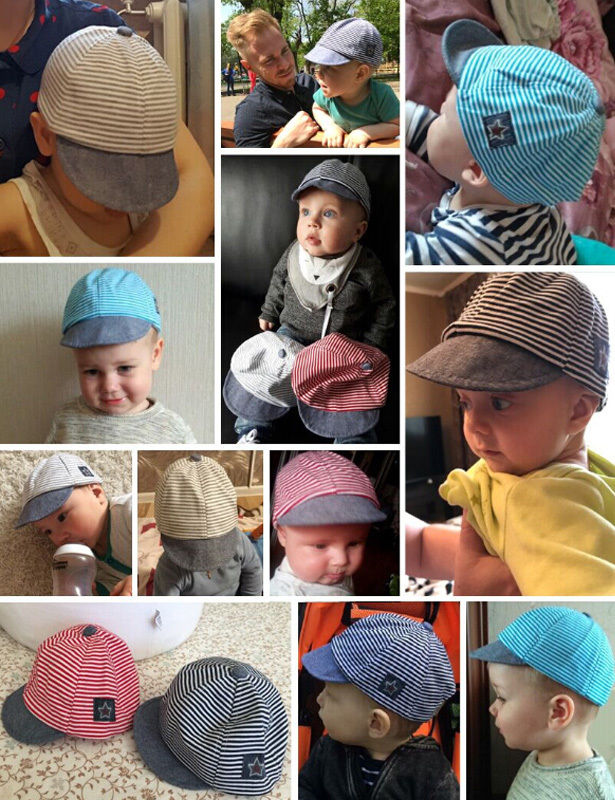 15ebd5ac873 2018 Summer New Newborn Baby Girls Boy Casual Infant Sun Cap Cotton Beret  Hats Striped-in Hats   Caps from Mother   Kids on Aliexpress.com