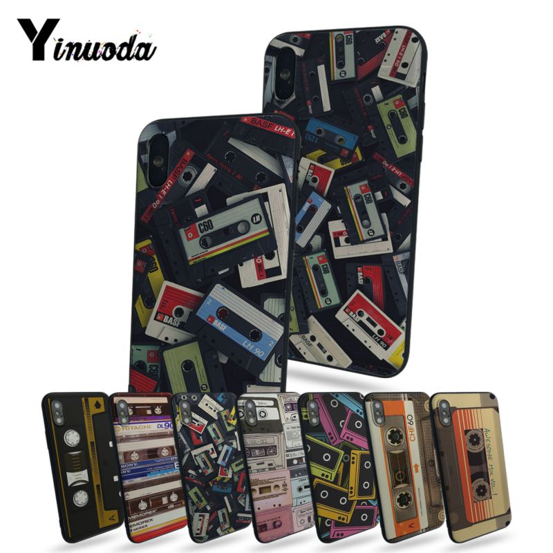 Yinuoda Vintage Magnetic tape Cassette Coque Shell Phone Case For Apple iphone 5 5s 5c SE