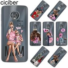 ciciber For Motorola Moto ONE E5 G5 G5S G6 C Z2 Z3 P30 G4 E4 Play Plus Power M X4 Soft TPU Phone Cases Super Mom Coque Fundas