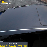 GELINSI roof trim Sitcker cover Accessories For Toyota Camry XV70 2018 Auto Car styling