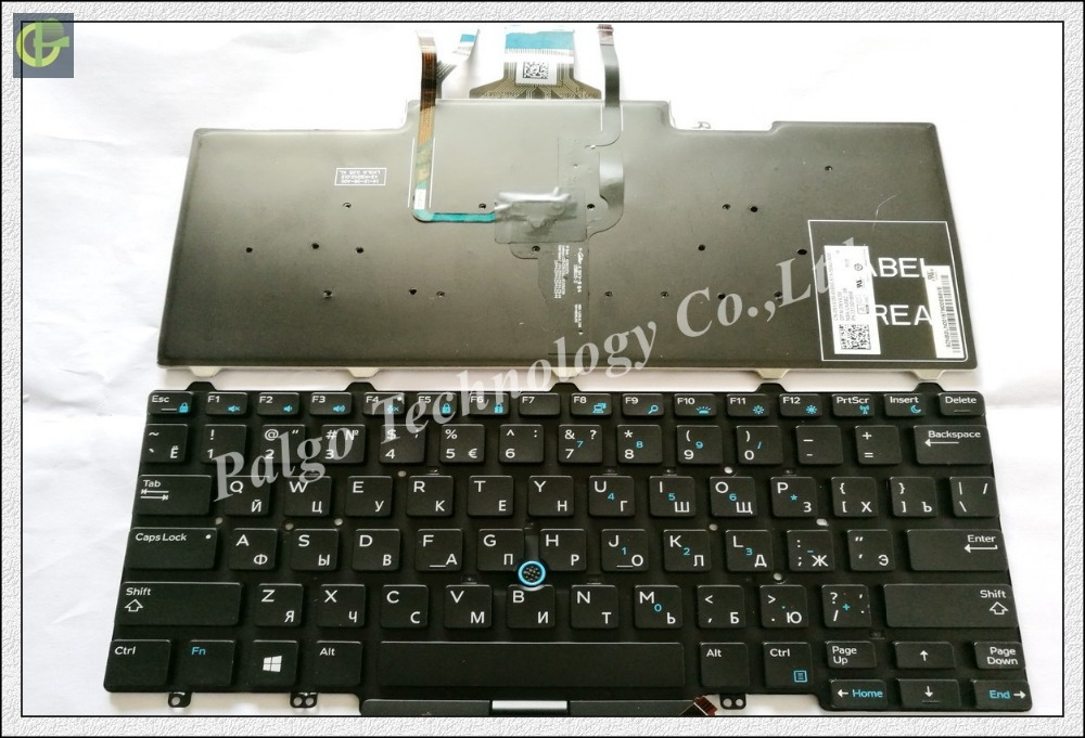 Russian Backlit RU Keyboard for Dell Latitude 3340 e3340 E5450 E7450 5450 7450 3350 Black keyboard with backlit russian keyboard for dell xps 15 9560 ru black with backlit