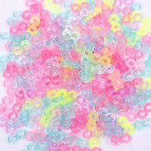 240 шт Детские разноцветные s-зажимы резиновые браслеты для плетения браслетов DIY инструмент для изготовления ювелирных изделий Модные Ювелирные Браслеты#61332