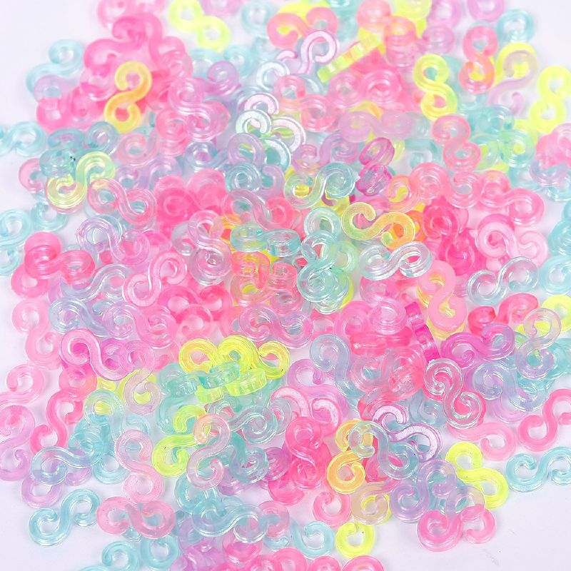 240pcs Child Mix Color S-Clips Rubber Loom Bands Bracelet Making DIY Tool Jewelry Making Fashion Jewelry Bracelets#61332(China)