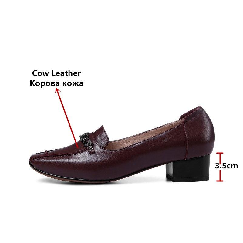 FEDONAS 2020 Marke Frauen Flach Retro Echtem Leder Schuhe Frau Komfort Casual Pumpen Arbeits Hochzeit Damen Schuhe Pumpen-in Damenpumps aus Schuhe bei  Gruppe 2