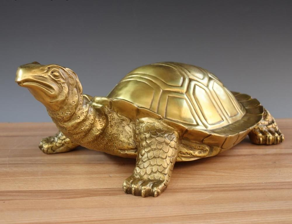 China Royal FengShui Brass Copper Auspicious Wealth Money Tortoise Turtle StatueChina Royal FengShui Brass Copper Auspicious Wealth Money Tortoise Turtle Statue