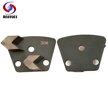 RIJILEI 6PCS Trapezoid Diamond Grinding Disk Metal Plate for Stone and Concrete Floor Grinding Diamond Grinding Disc JX08