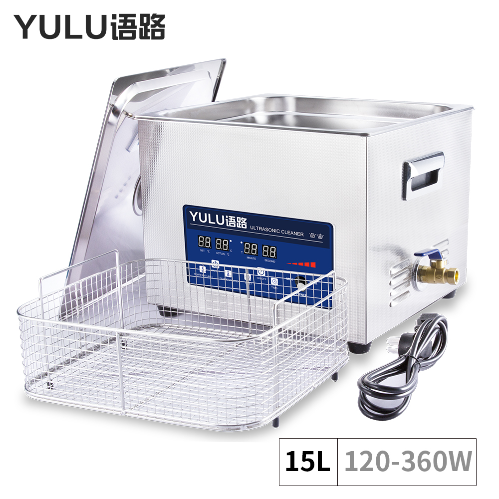 15L ultrasonic cleaning Machine Bath Tank Power Adjustable mechanical parts Automatic Motocycle washer Mold Metal Ultrasound