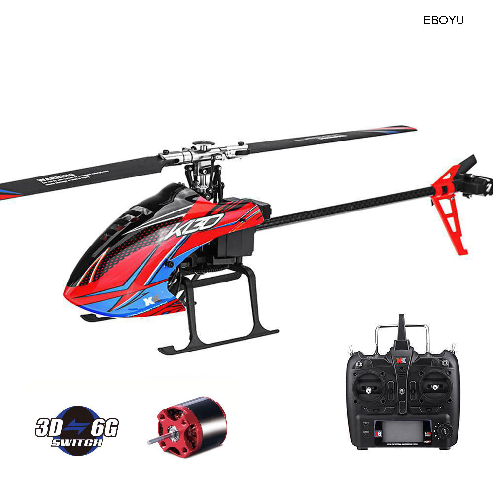 WLtoys XK K130 RC Helicopter 2.4G 6CH Brushless Motor 3D 6G Flybarless Compatible with FUTABA S FHSS Stunt Helicopter RTF Toy