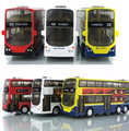 Free Shipping Hot Sale 1:43 Alloy Car Pull Back London Double-Decker Bus Toy Cars Model Toys For Children Can Open Door