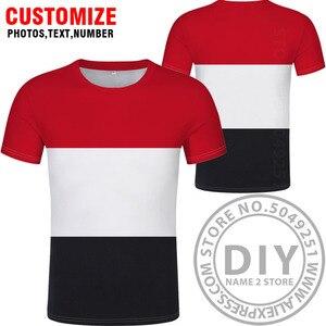 Image 5 - YEMEN maglietta fai da te di trasporto custom made nome numero di yem t shirt nazione bandiera ye islam arabi arabo paese repubblica stampa foto dei vestiti