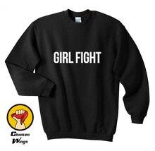 Girl Fight Sweatshirt - Feminism Feminist Gifts Political Womens Sweatshirt-D462
