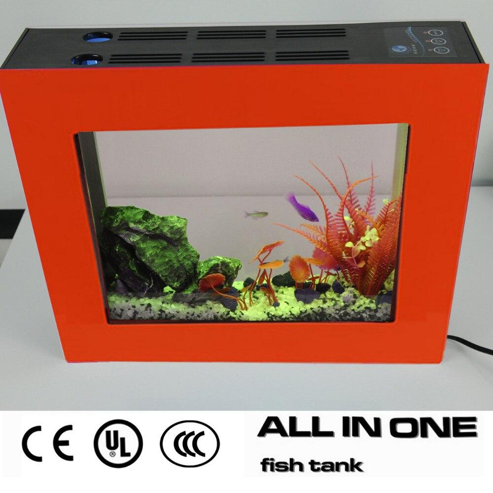 2015Best Selling Smart Eco All in One Aquarium Orange Fish Tank ...