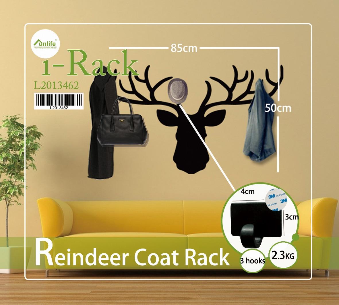 Christmas Reindeer Pattern Wall Sticker Hook Living Room Bedroom ...