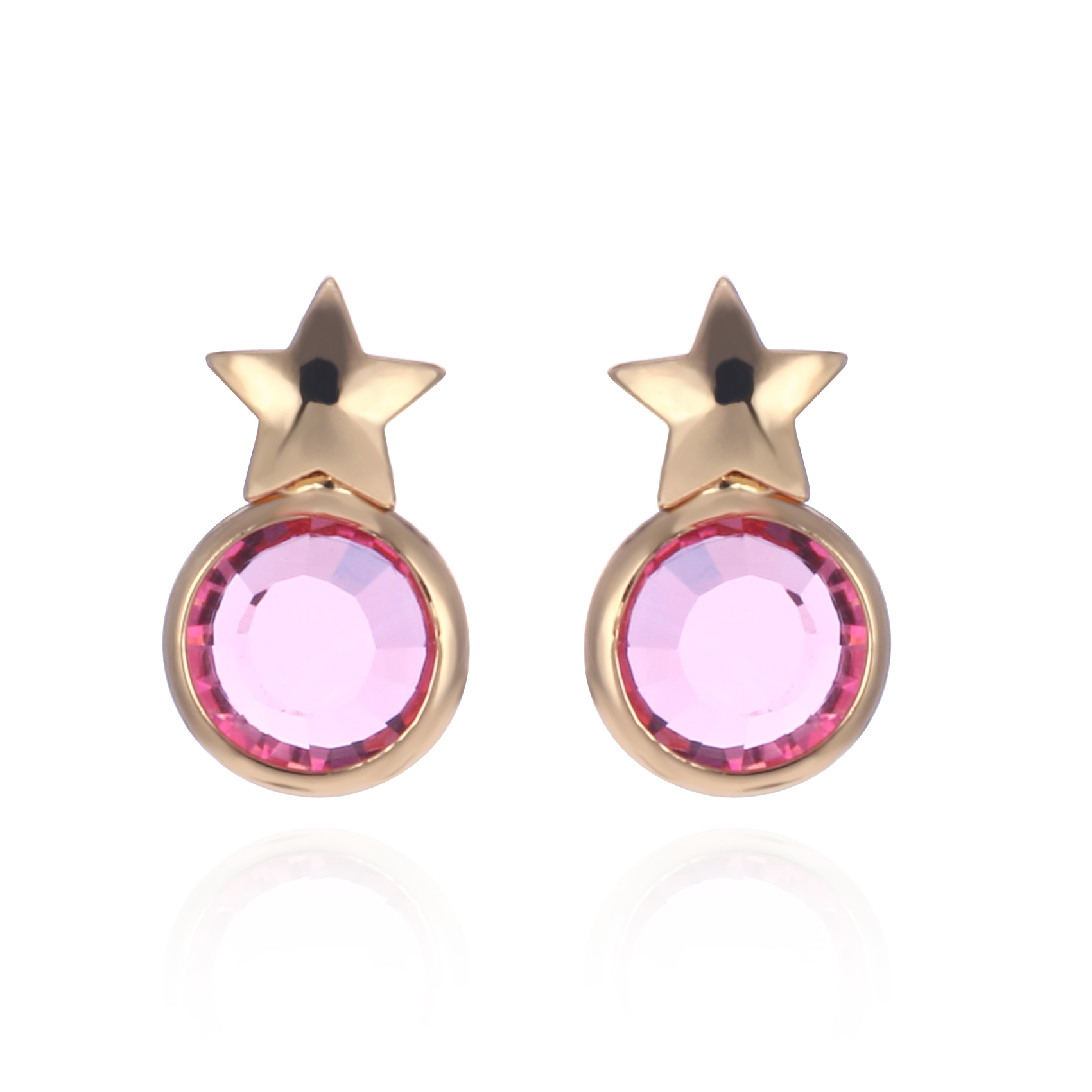 3um Glass Birthstone Stud Earrings Fashion Jewelry Tiny Star Birthstone  Earing For Women Pendientes Oorbellen Brincos 2017 Gift