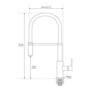 Image 5 - Diseño recientemente patentado 360 giratorio 100% de latón macizo Mezclador monomando Grifo del fregadero Jale hacia abajo el grifo de la cocina en acero inoxidable