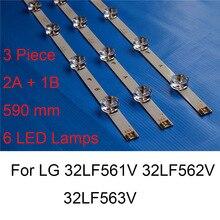 Brand Nieuwe Led Backlight Strip Voor Lg 32LF562V 32LF563V 32LF561V 32 Inch Tv Reparatie Led Backlight Strips Bars Een B type Originele