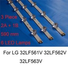 חדש לגמרי Led תאורה אחורית רצועת עבור Lg 32LF562V 32LF563V 32LF561V 32 אינץ טלוויזיה תיקון Led תאורה אחורית רצועות ברים B סוג מקורי