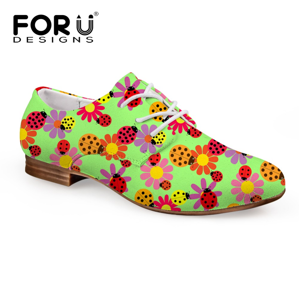 ФОТО FORUDESIGNS 2017 New Fashion Women's Flats Casual Oxford Leather Shoes for Women Breathable Lacing Female Business Flat Shoes