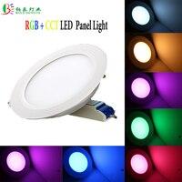 RGB +CCT Round Panel Light 6W/12W LED Downlight 2.4G RF Wireless Mi Light AC85-265V Dimmable Ceiling Light Warm White High Lumen