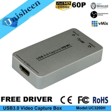 USB3.0 60FPS HDMI VIDEO CAPTURE Dongle Spiel Streaming Live-Stream Broadcast 1080 P
