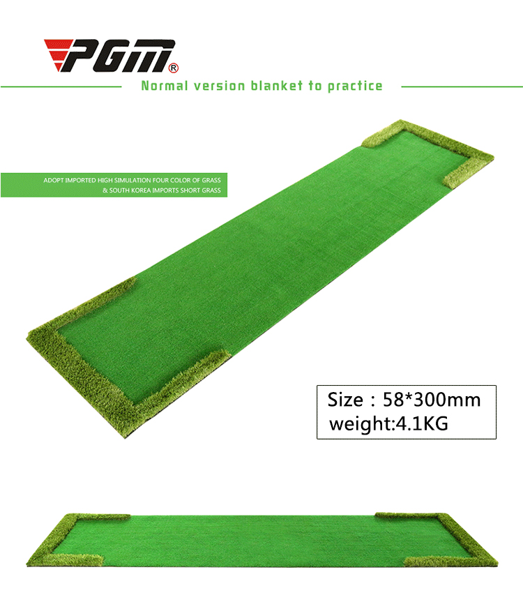 PGM indoor golf putting practice equipment multi-fairway monochrome swing trainer training blanket golf ball retriever golf putting mat mini golf putting trainer with automatic ball return indoor artificial grass carpet
